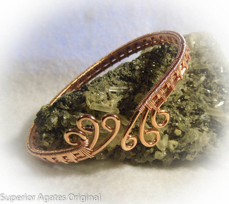 Copper Wire Woven Adjustable  Bangle Bracelet Size 7 1/4 | Wire Wrapped Jewelry | Scoop.it