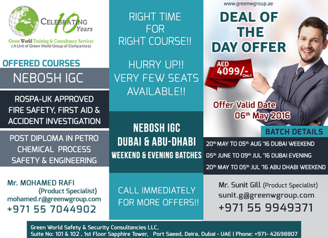 Deal Of The Day - UAE | Nebosh courses | Scoop.it