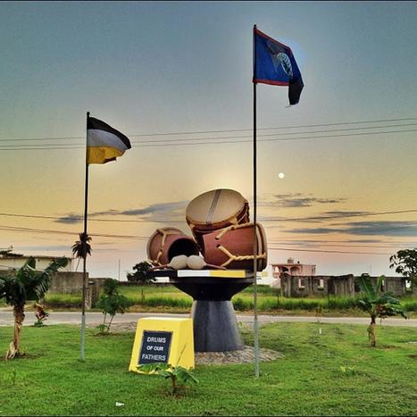 "Moonrise over ""Drums of Our Fathers"" monument, Dangriga, Belize. #dangriga #ink360 #bestinstagram #belize | Flickr - Photo Sharing! | Belize in Social Media | Scoop.it"