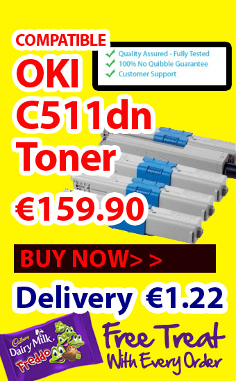 Get 4 Pack of OKI Compatible Laser Toner for C511DN Just at €160 | Find the Best Value Ink and Toner Cartridges with Multipack Deals in Ireland | Scoop.it