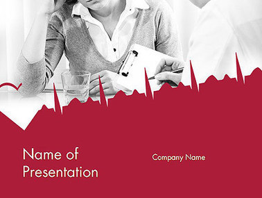 Woman Talking to Doctor Presentation Template | Presentation Templates | Scoop.it