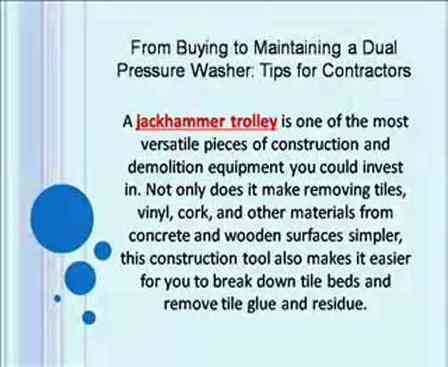 From Buying to Maintaining a Dual Pressure Washer: Tips for Contractors | Jackhammer Trolley | Scoop.it