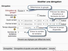Associer des groupes et des tests – Moodle | E-pedagogie, apprentissages en numérique | Scoop.it