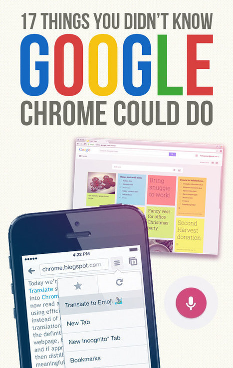 17 Things You Didn't Know Google Chrome Could Do | iCt, iPads en hoe word ik een ie-leraar? | Scoop.it