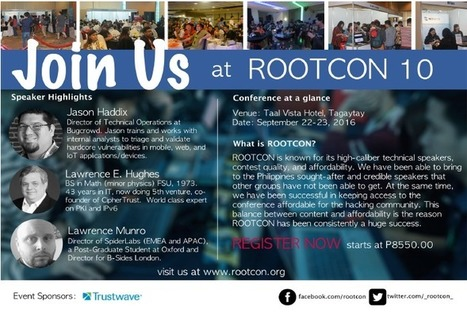 ROOTCON 10 - A Hacker Conference in the Philippines You Shouldn't Miss - Pir8g33k | Pir8g33k | Scoop.it