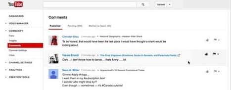 Gestion des commentaires, YouTube fait le choix de revenir en arrière | Yeca | Scoop.it