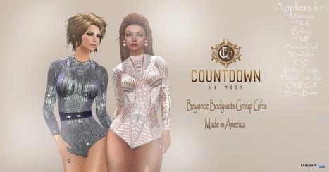 Beyonce Bodysuits with Mesh Body Appliers Group Gift by Countdown La Mode | Teleport Hub - Second Life Freebies | Second Life Freebies | Scoop.it