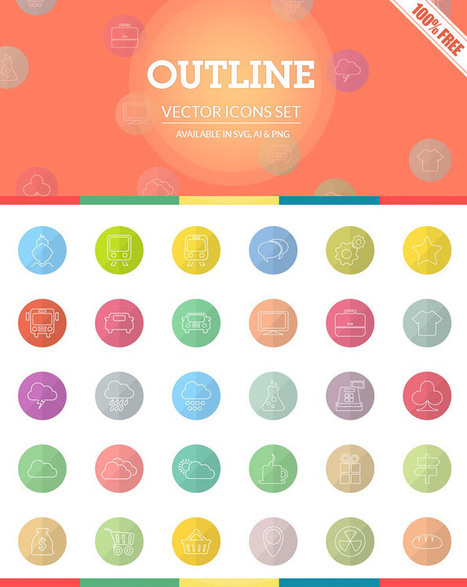 [Freebie] Outline Icon Set: 30 Free Outline Icons | WebsiteDesign | Scoop.it