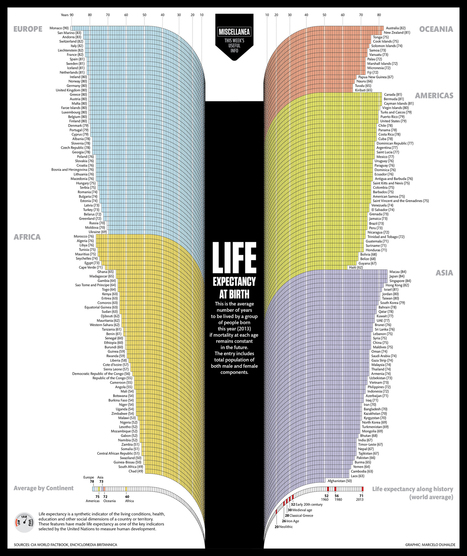 Visualistan: Life Expectancy At Birth [Infographic] | Health | Scoop.it