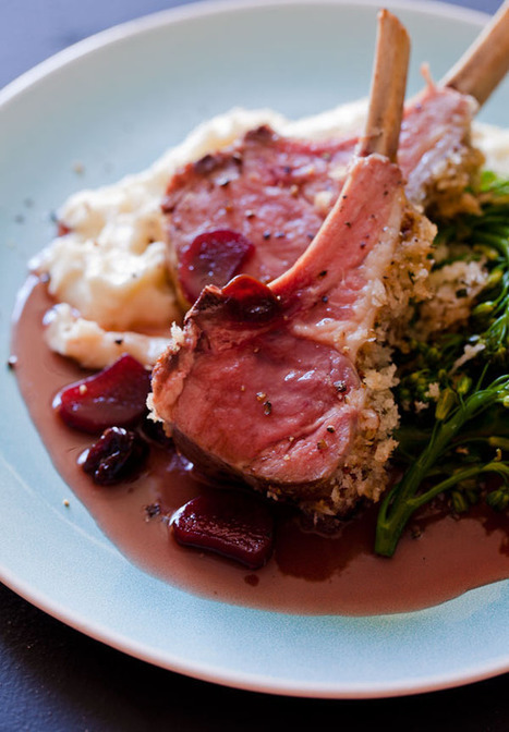 Roasted Rack of Lamb with a Rhubarb and Sour Cherry Gastrique dinner recipe | À Catanada na Cozinha Magazine | Scoop.it