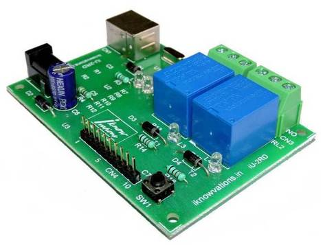2 channel USB Relay & DAQ board iU-2RD launched. - iknowvations.in | Serial LCD | Scoop.it