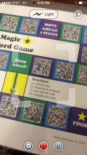 """Project QR Code"" -- Interactive Phonics Game Board 