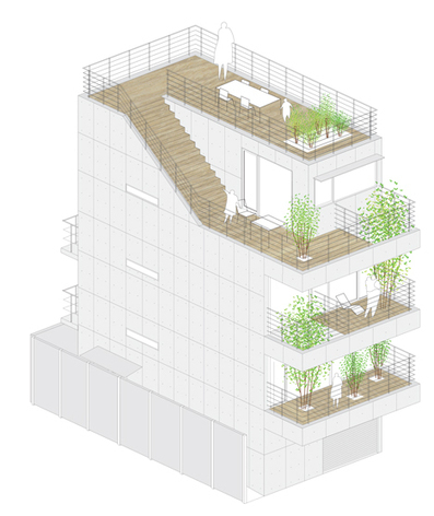 [Nagoya, Japan] Four-storey house with tree-lined balconies by Ryo Matsui Architects | The Architecture of the City | Scoop.it