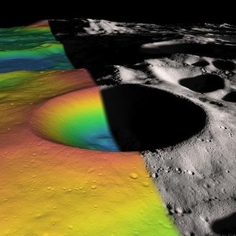 Εκτίμηση του πάγου που περιέχεται σε κρατήρα στο νότιο πόλο της Σελήνης | physics4u | Scoop.it