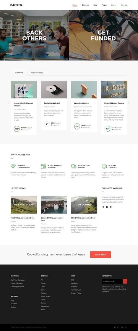 Modern WordPress Crowd funding Theme - Download New Themes | WordPress et applications web | Scoop.it