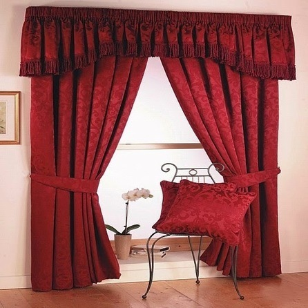 Red Curtains and Window treatments in the interiors living room | living room design | Scoop.it