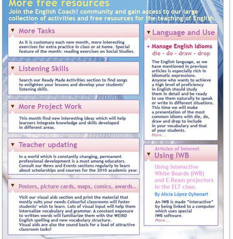 english coach! Recursos para docentes de inglés. | Recursos para profes de Inglés | Scoop.it