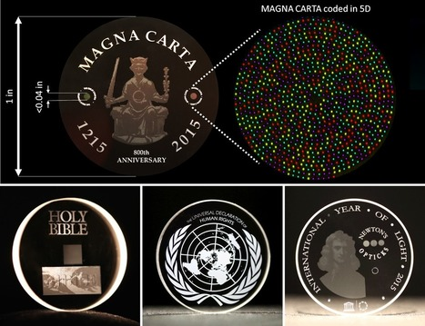 'Five-dimensional' glass discs can store data for up to 13.8 billion years | Universal curiosity, appreciation and imagination. | Scoop.it