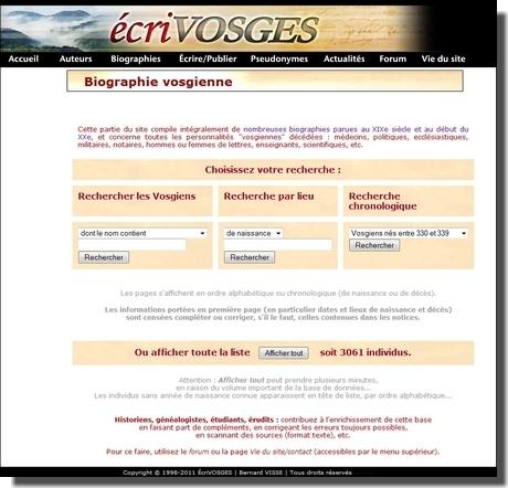 Ecrivosges, retrouvez vos ancêtres vosgiens ! - Le Blog Généalogie - Toute l'actualité de la généalogie - GeneaNet | GenealoNet | Scoop.it