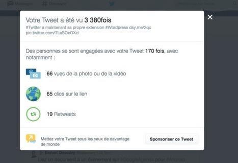 Les statistiques des tweets sont accessibles depuis le fil d'actualité | Descary | Tout savoir sur Twitter | Scoop.it