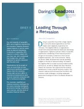 Download Brief 1 | Daring to Lead | Nonprofit Effectiveness | Scoop.it