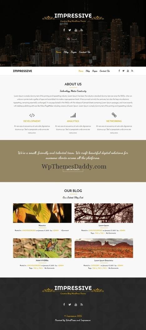 Best Free Responsive WordPress Themes 2015 ~ Free WordPress Themes - WP Themes Daddy   Free Wordpress Themes   Scoop.it