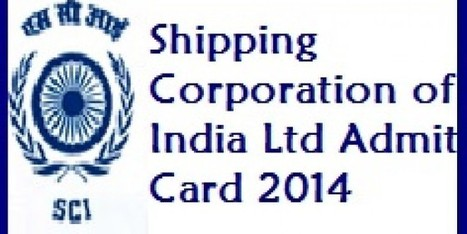 Download Shipping Corporation of India Admit Card 2014 Hall Ticket   Aptitude Any   Aptitudeany   Scoop.it