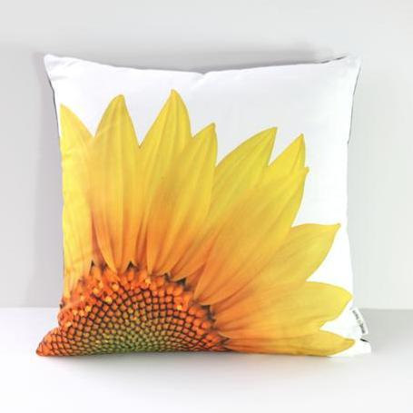 Garden Flowers Pillow Cover: Sunflower (Left-Side Print) | Annie Haven | Haven Brand | Scoop.it