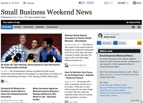 """July 7 - """"Small Business Weekend News"""" is out 