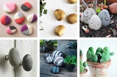 DIY | 6 idées déco faciles et rapides pour les kids avec des galets | décoration & déco | Scoop.it