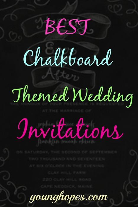 Chalkboard Wedding Invitations and Announcements • | Weddings | Scoop.it