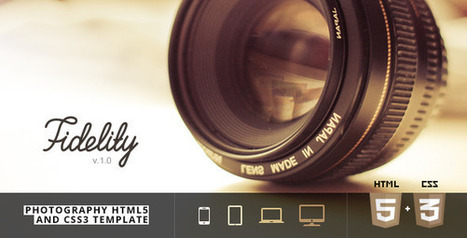 Fidelity – Photography HTML5/CSS3 Template (Photography)   Site Templates Download   Scoop.it