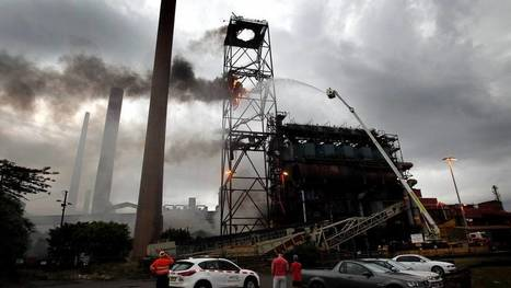 Fire at BlueScope Steel's Port Kembla plant: photos | Port Kembla Today and Yesterday | Scoop.it