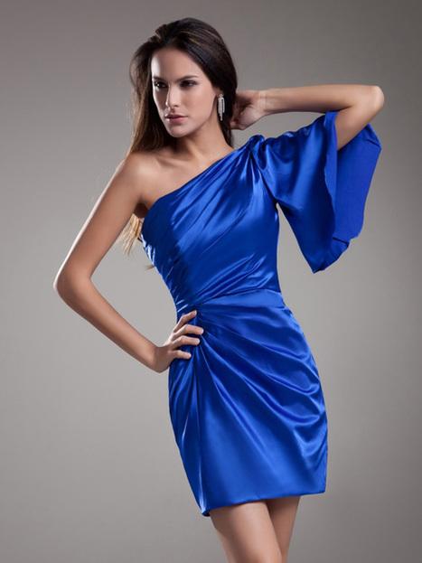 Elastic Woven Satin Sheath / Column Short / Mini Cocktail Dress : KissChic.com | Kisschic Fashion Dresses | Scoop.it