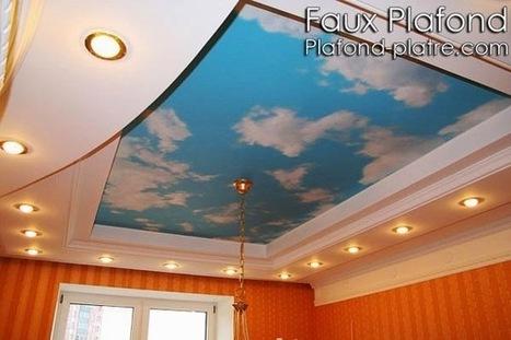 Plafond suspendu décoration ciel | Faux plafond en forme d'un papillon | Scoop.it