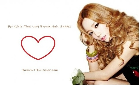 Golden Brown Hair Color With Center Split Bangs Long Curly Haircut | Beauty | Scoop.it