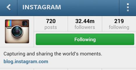 Instagram vous envoie les photos de vos contacts que vous avez pu manquer | Geek 2015 | Scoop.it