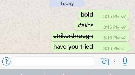 How to access new WhatsApp text formatting options   Into the Driver's Seat   Scoop.it