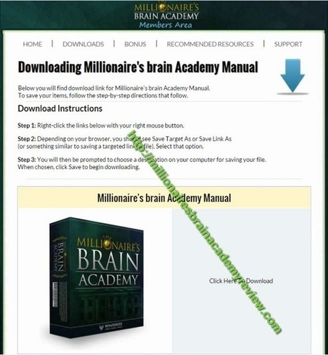 The Millionaire's Brain Academy Review – Does It Really Work? | REVIEW4YOU13 | Scoop.it