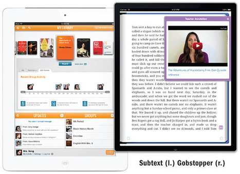 SLJ Reviews Gobstopper and Subtext: Apps that Enable Interactive Classroom Reading - The Digital Shift | iPads in Education Daily | Scoop.it