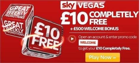 Sky Vegas Promo Codes - £10 FREE NO DEPOSIT CASINO BONUS | Super Casino | Scoop.it