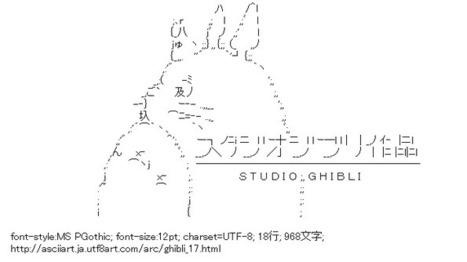 ジブリ ロゴ | ASCII Art | Scoop.it