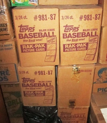 One 1987 Topps 3 Box Factory Sealed Rack Case  ( OVER 3,000 Mint Cards ) | Antiques & Vintage Collectibles | Scoop.it
