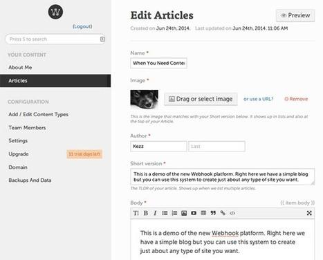 Introduction to Webhook: Custom CMS and Website Builder - Tuts+ Web Design Article | Web App development with Node.js | Scoop.it