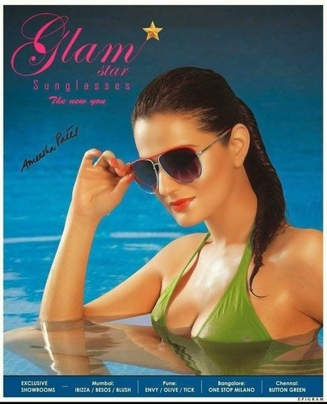 Amisha Patel Modelling in Short dresses for Glam Star Sunglasses, Actress, Bollywood, Western Dresses | CHICS & FASHION | Scoop.it