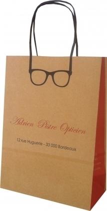 Un sac trompe l'oeil pour Adrien Pistre Opticien - Le Sac Publicitaire   Sac papier publicitaire   Scoop.it