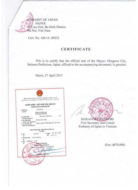 Hợp pháp hóa lãnh sự | Visa - hộ chiếu | Scoop.it