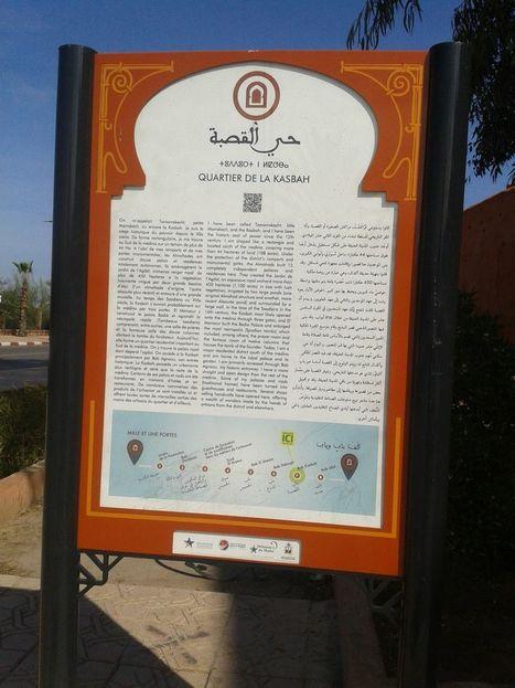 La campagne de signalétique fait son apparition dans la Médina de Marrakech, QR Code, 3 langues, site web, la géolocalisation est en route ! | signalétique digitale | Scoop.it