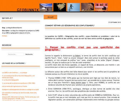 Cours : Comment définir les géographies des conflits ? (blog GeoBunnik) | CAPES Histoire-Géographie | Scoop.it