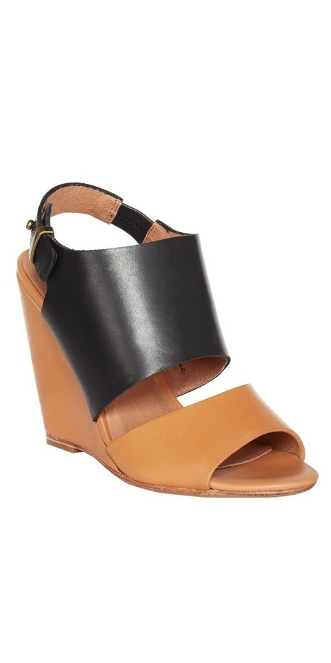 JOIE Ashland Wedge Black/Natural   Leather Wedges   fashion numbleone   Scoop.it